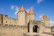 canvas print picture - Altstadt von in Carcassonne in Südfrankreich.