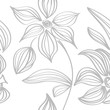 floral seamless pattern with flowers and leaves - 236484583