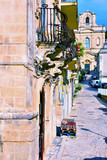 glimpse of the historic center of Scicli Sicily Italy