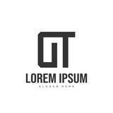 DT Letter logo design. Initial letter logo template