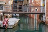 Bridge across a canal in venice