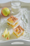 Closeup of homemade apple pie made of fresh ingredients - 236506147