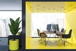 Modern yellow office interior