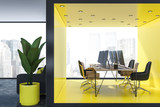 Modern yellow office interior - 236506540