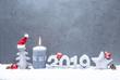 Leinwandbild Motiv Silvester Weihnachten Karte Grüße 2019