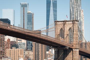 Brooklyn bridge, close up day view
