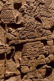 retablos de piedra mexicanos, calendario azteca y figuras de deidades de culturas prehispánicas