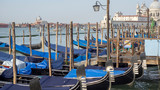 Venice, Italy. Gondola, the famous and traditional flat bottomed Venetian rowing boat