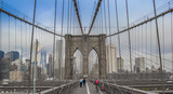 Panorama of Brookyn Bridge in New York City, USA