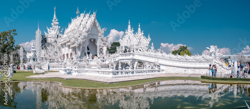 Wat Rong Khun, aka The White Temple, in Chiang Rai, Thailand. - 236571310