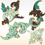Collection of vector vintage flourishes for design - 236588775