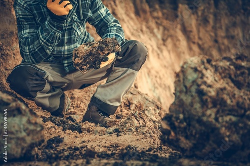 Geologist Checking the Soil - 236598556