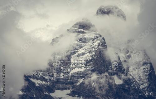 Winter Season Mountain Peak