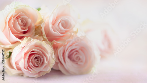 Flower composition with roses.