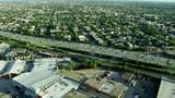 Aerial view of urban freeways and suburban areas Chicago Illinois US - 236607126