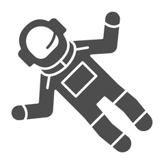 Astronaut solid icon. Spaceman vector illustration isolated on white. Cosmonaut glyph style design, designed for web and app. Eps 10.