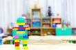 children's toys on the table.children's room full of toys.children's playroom full of toys