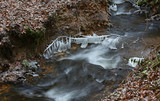 Water, Cold, freezing, frozen, icicles, winter, river, creek, ice, crystals