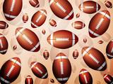 Football balls background