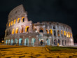 the rome coliseum at night
