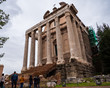 Temple of Antoninus and Faustina in the Roman forum of Rome