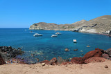 Red beach, Santorini, Cycladic Islands, Greece. Beautiful summer landscape with one of the most famous beaches in the world.