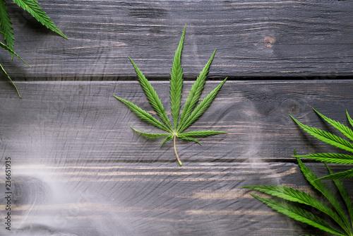 marijuana, cannabis and smoke on a black background 2 - 236651935