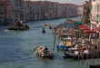 Boats on the Grand Canal in Venice