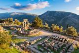 Temple of Athena Pronaia in ancient Delphi, Greece