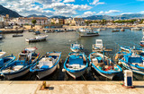 Fishing boats in the small harbor of Isola delle Femmine, province of Palermo, Sicily © EleSi