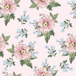 Seamless vintage floral pattern for gift wrap and fabric design - 236672705