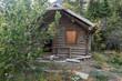 Abandoned log cabin in Kluane National Park, Yukon Territory, Canada