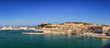 Leinwanddruck Bild - Panoramic view of the port of Ancona in the Marche region, Italy.