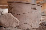 Akrotiri archaeological dig Santorini