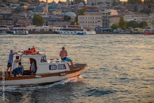 Stary miasto Istanbuł z Bosphorus, Turcja.