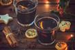 Leinwanddruck Bild - Hot Mulled wine for the Christmas