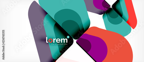 Abstract background multicolored geometric shapes modern design - 236763313