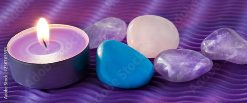 Wellness Candle and Gemstones - 236765593