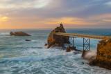 Rock of the Virgin Mary (Rocher de la Vierge) in Biarritz, France - 236773980