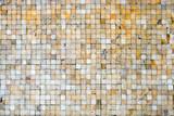 Golden shiny ceramic tile texture background - 236774708