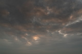 Cloudy sunset sky background - 236775545