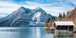 Leinwandbild Motiv walchensee lake in bavaria