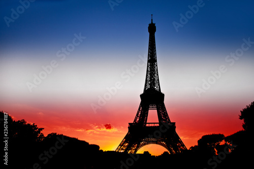 Silhouette Eiffel tower - 236784187