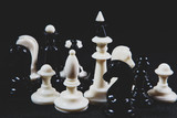 chess pieces on the table