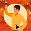 Thanksgiving holiday design - 236789705