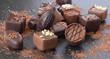 Leinwandbild Motiv Chocolats de Noël
