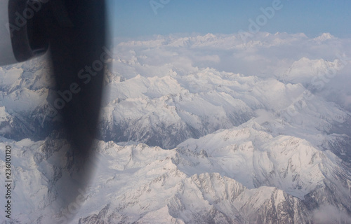 Swiss Alps Covered in Snow - 236803120
