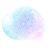 Beautiful abstract template with blue set gentle winter backgrounds