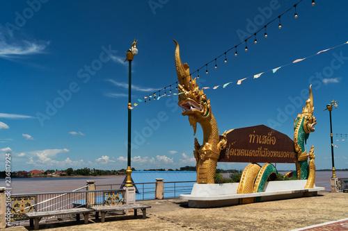Drachen Statue in Nong Khai, Thailand