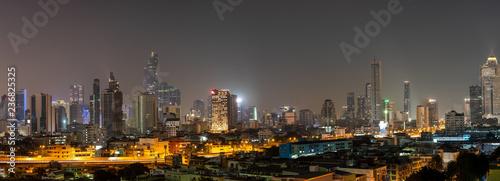Paranoma View of Bangkok Expressway  in the Night  - 236825325